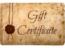 Image for Gift Certificates